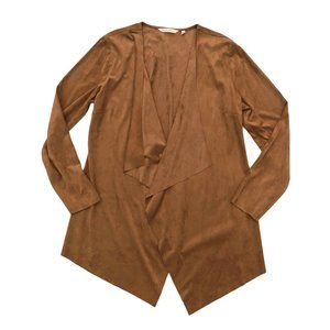 SOFT SURROUNDINGS Women's Brown Cardigan Duster